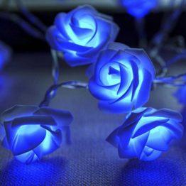 """Гирлянда """"Роза"""" Синяя"""